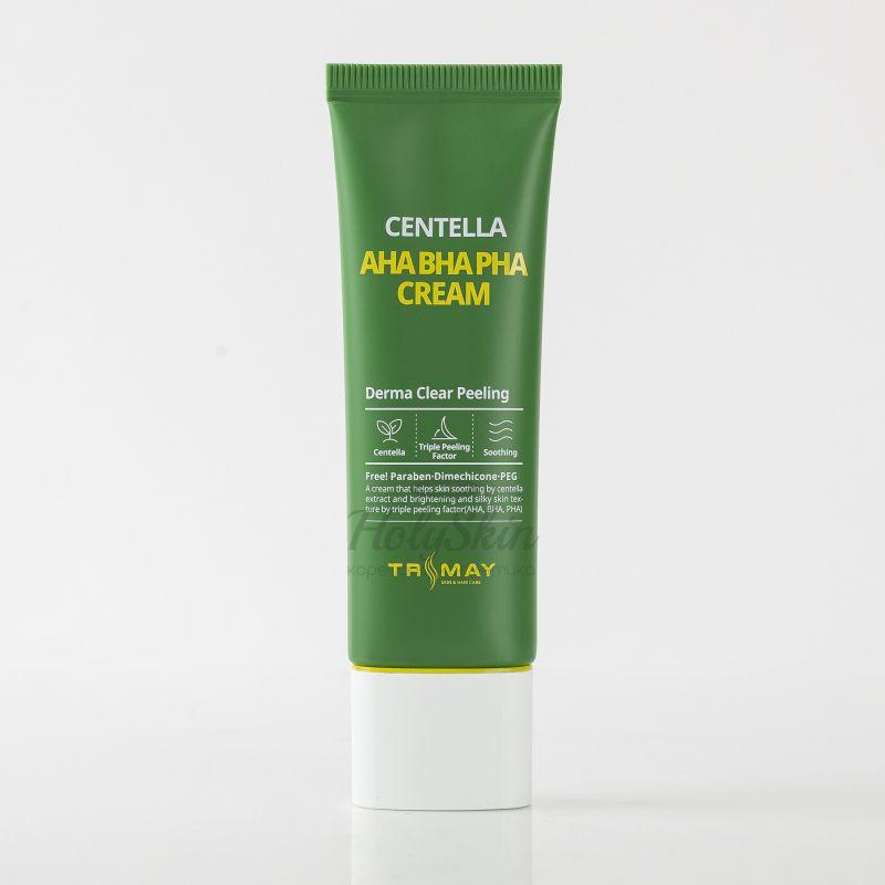 Купить Крем для лица с центеллой и AHA, BHA, PHA кислотами Trimay, AHA BHA PHA Centella Cream, Южная Корея