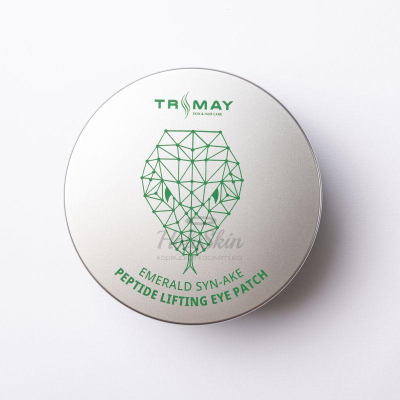 Купить Патчи с пептидом змеиного яда и изумрудным порошком Trimay, Emerald Syn-Ake Peptide Lifting Eye Patch, Южная Корея