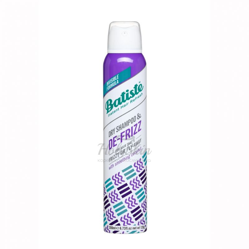 Купить Сухой шампунь для непослушных и вьющихся волос Batiste, Batiste Dry Shampoo De-Frizz, Великобритания