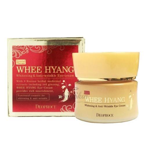 Купить Крем для глаз с травяными экстрактами Deoproce, Whee Hyang Whitening and Anti-Wrinkle Eye Cream, Южная Корея