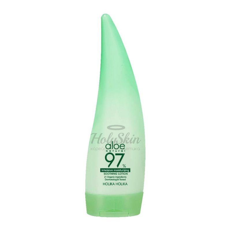Купить Интенсивно увлажняющая эмульсия для лица и тела с соком алое Holika Holika, Aloe 97% Soothing Lotion Intensive Moisturizing, Южная Корея