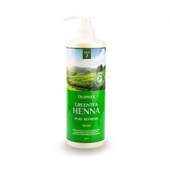Обновляющий бальзам-ополаскиватель с хной и зеленым чаем Deoproce — GreenTea Henna Pure Refresh Rinse
