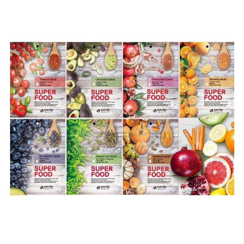 Купить Серия тканевых масок для лица Eyenlip, Super Food Mask, Южная Корея