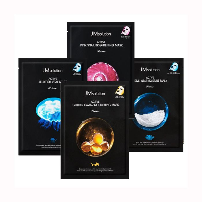 Купить Ультратонкие тканевые маски для лица JMsolution, Active Mask Prime, Южная Корея