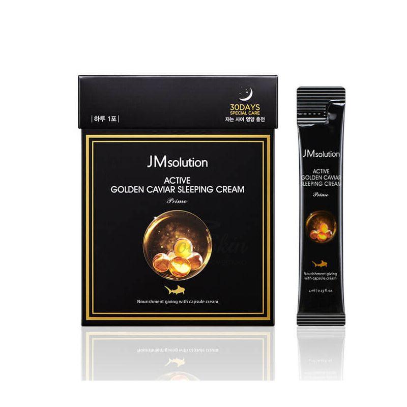 Ночной крем с экстрактом икры и золотом JMsolution Active Golden Caviar Sleeping Cream фото
