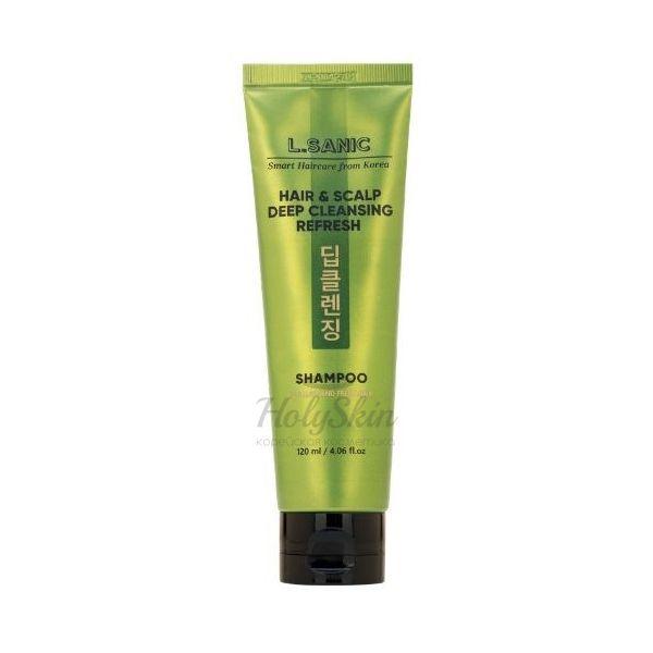 Купить Освежающий шампунь для глубокого очищения волос и кожи головы L'Sanic, Hair and Scalp Deep Cleansing Refresh Shampoo, Южная Корея