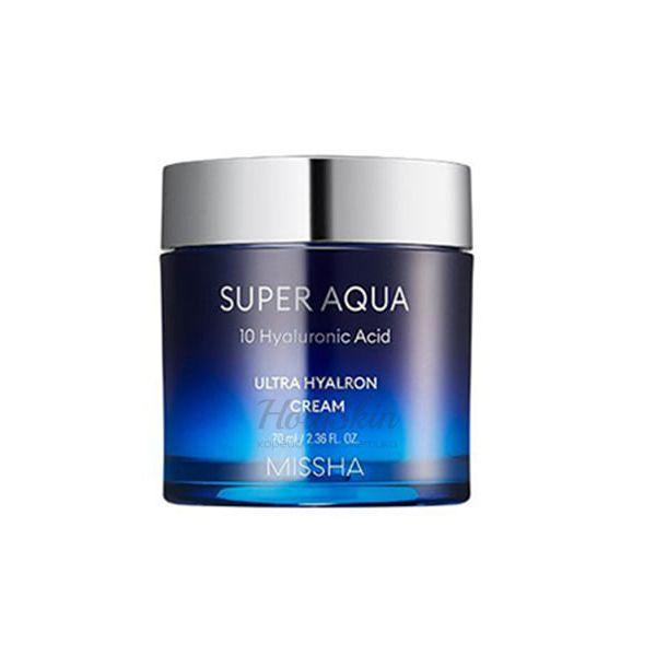 Купить Увлажняющий крем для лица с гиалуроновой кислотой Missha, Super Aqua Ultra Hyalron Cream, Южная Корея