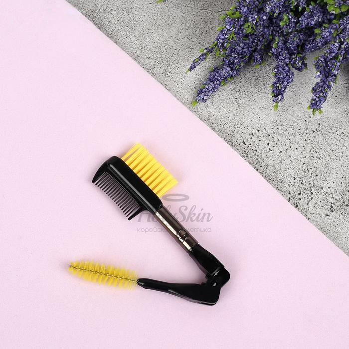 Щёточка-расчёска для бровей и ресниц HS — Щёточка-расчёска для бровей и ресниц двусторонняя складная 6,8 см