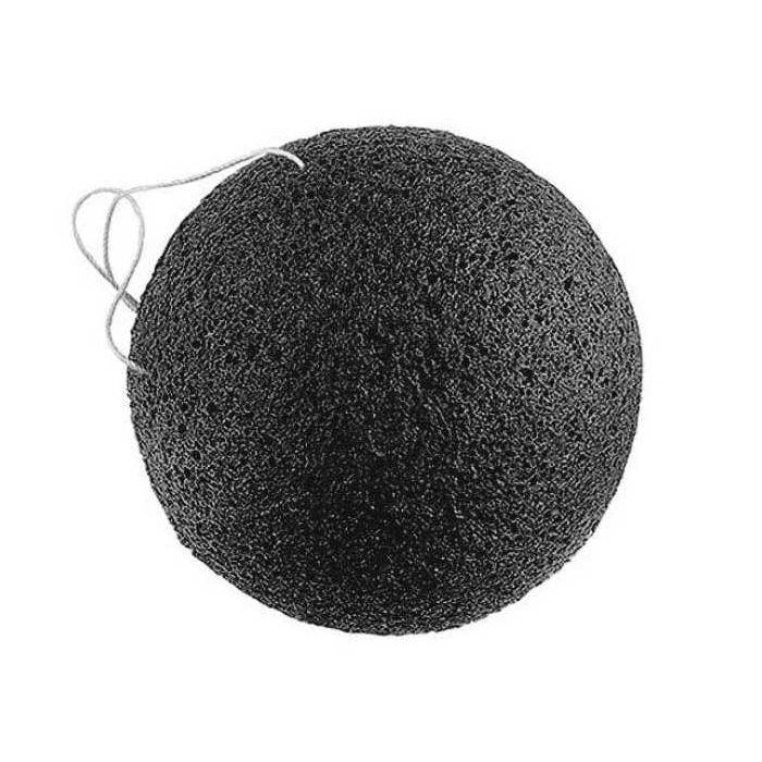 Спонж конняку с древесным углем The Saem — Charcoal Jelly Cleansing Puff