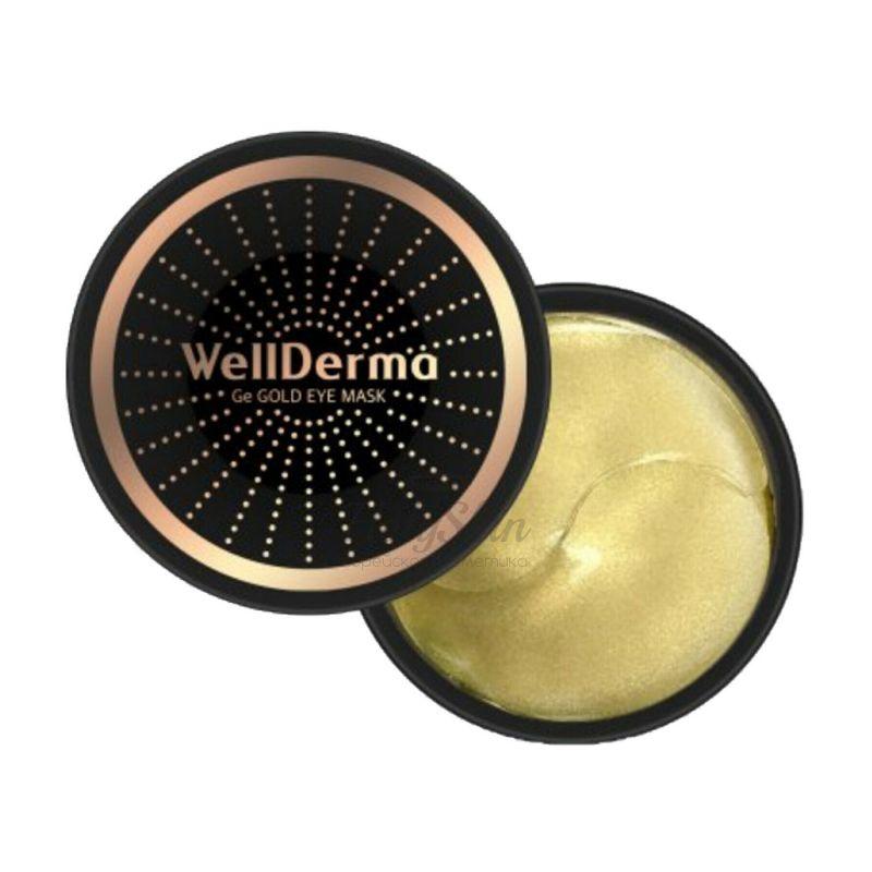 Омолаживающие патчи с германием и золотом WellDerma — Ge Gold Eye Mask