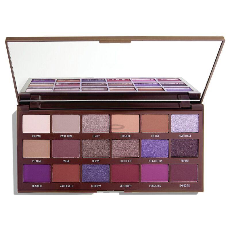 Купить Палетка теней 18 матовых и сияющих оттенков I Heart Revolution, I Heart Revolution Violet Chocolate, Великобритания