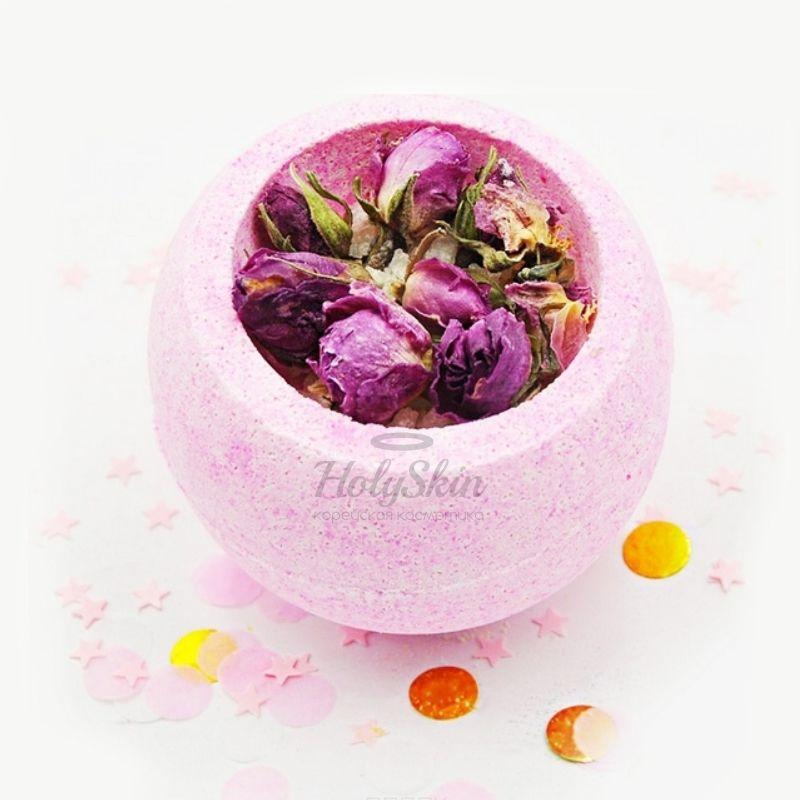 Бомбочка для ванны с маслами миндаля, какао, розы и морской солью Boom Shop — Бомба для ванны Розовая Чаша