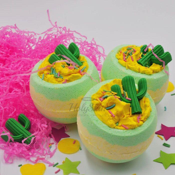 Купить Бомбочка для ванны с ароматом цитрусовых масел и зелени Boom Shop, Бомба для ванны Hola Amigo!, Россия