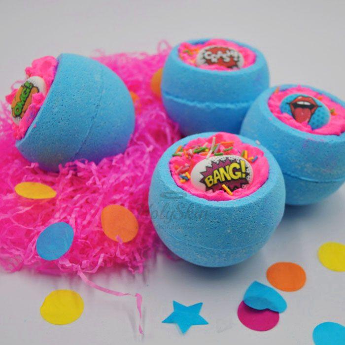 Купить Бомбочка для ванны с ароматом сладких карамельных конфет Boom Shop, Бомба для ванны Pop Art Bomb, Россия