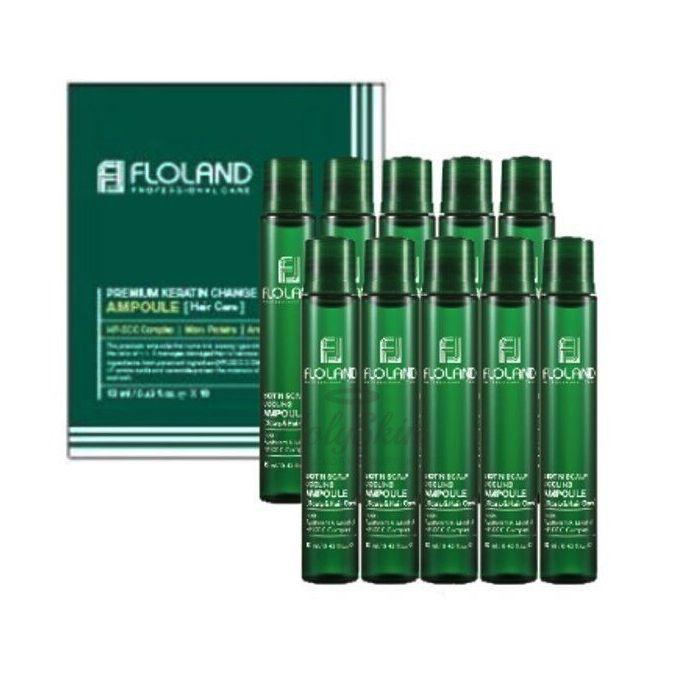 Купить Успокаивающий филлер для кожи головы и волос Floland, Scalp Cooling Ampoule, Южная Корея
