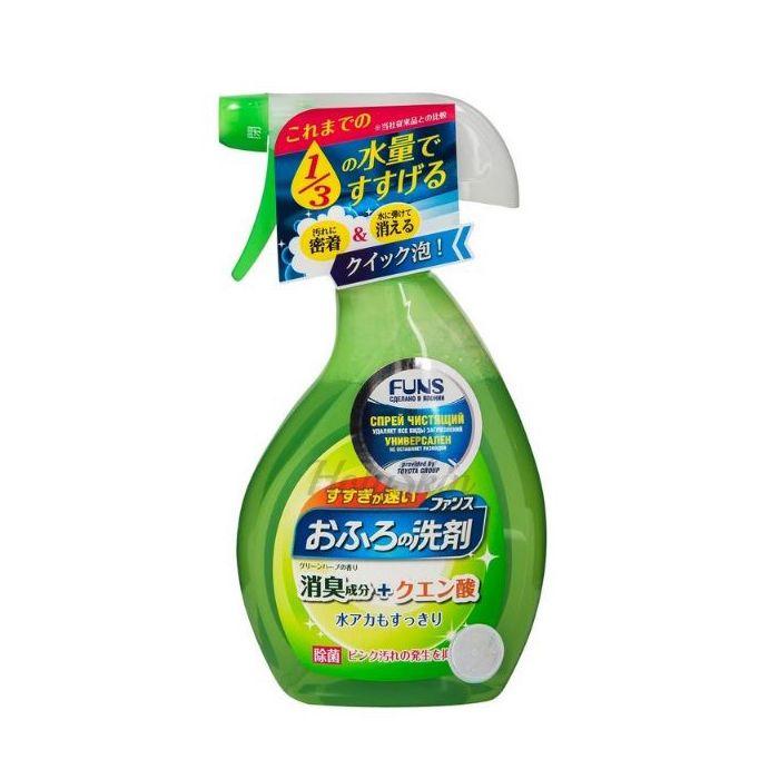 Купить Чистящее средство для ванн, душевых кабин, раковин, полов и стен ванных комнат Funs, Спрей чистящий для ванной комнаты с ароматом свежей зелени, Япония