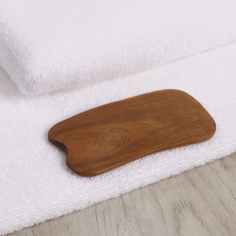 Купить Массажёр гуаша для лица и тела HS, Массажёр Гуаша Пластинка деревянный, Китай
