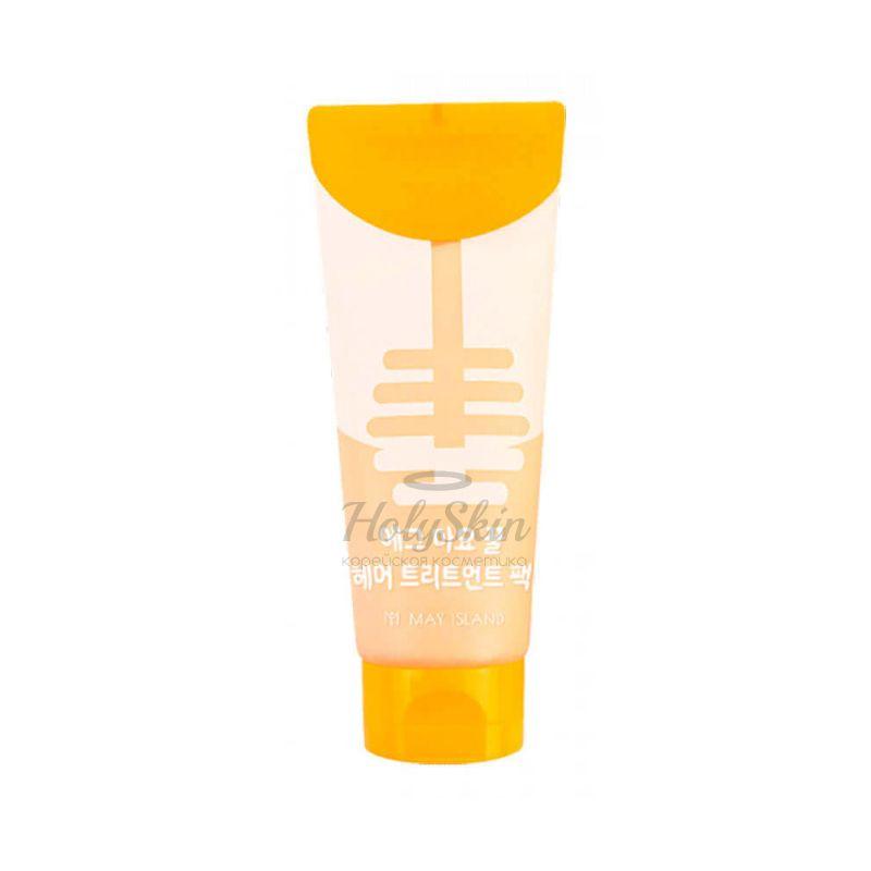 Купить Питательная маска для блеска волос с экстрактом желтка и мёда MayIsland, Egg Mayonnaise Honey Hair Treatment Pack, Южная Корея