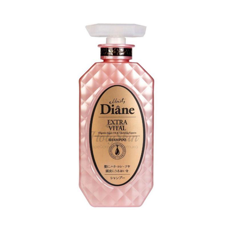 Бессиликоновый кератиновый шампунь Уход за кожей головы Moist Diane