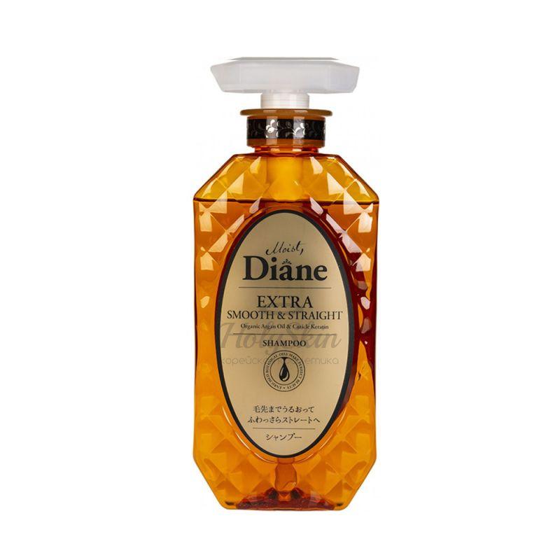 Купить Кератиновый шампунь с аргановым маслом Гладкость и выпрямление Moist Diane, Perfect Beauty Extra Smooth and Straight Shampoo, Япония