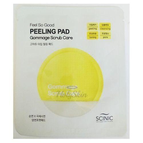 Купить Пилинг-салфетка для очищения кожи Scinic, Feel So Good Peeling Pad Gommage Scrub Care, Южная Корея