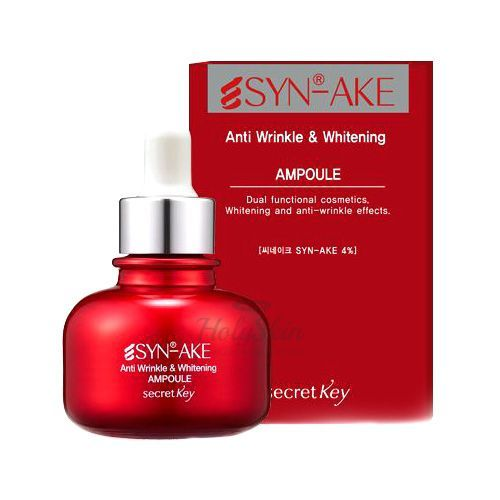 Syn-Ake Anti Wrinkle & Whitening Ampoule Secret Key отзывы