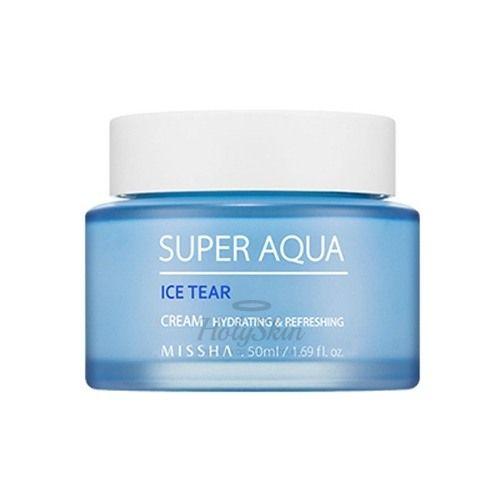 Увлажняющий крем для лица Missha, Super Aqua Ice Tear Cream, Южная Корея  - Купить