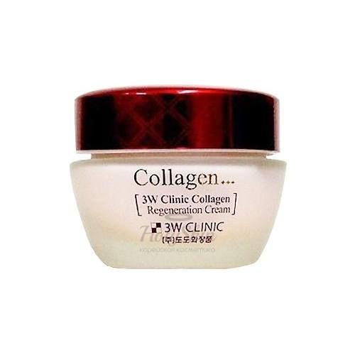 Купить Восстанавливающий крем с коллагеном 3W Clinic, Collagen Regeneration Cream, Южная Корея