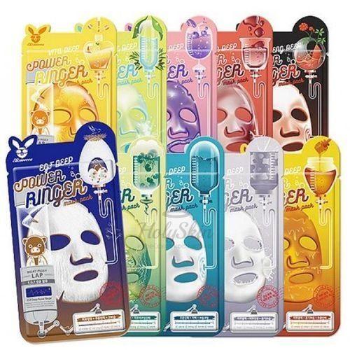 Серия тканевых масок ELIZAVECCA DEEP POWER RINGER MASK PACK