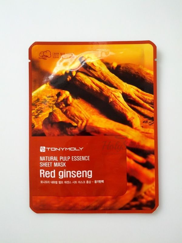 Natural Pulp Sheet Mask Red Ginseng Tony Moly купить