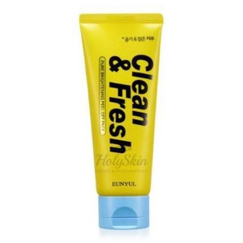 Купить Маска для сияния кожи Eunyul, Clean and Fresh Pure Brightening Peel Off Pack, Южная Корея