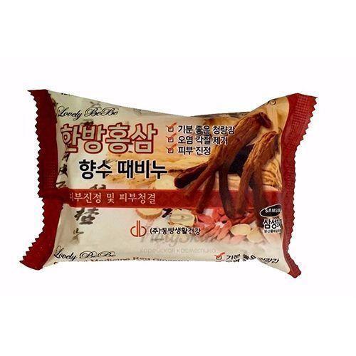 Купить Мыло с экстрактом женьшеня Juno, Lovelybebe Perfume Peeling Soap Red Ginseng, Южная Корея