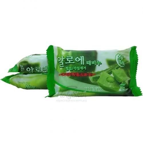 Купить Мыло-скраб с алоэ Juno, Sangtumeori Peeling Soap Aloe, Южная Корея