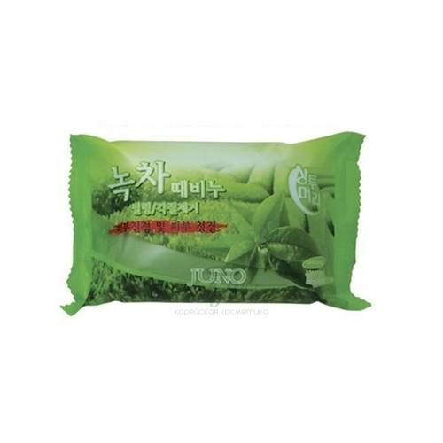 Купить Мыло-скраб с экстрактом зеленого чая Juno, Sangtumeori Peeling Soap Green Tea, Южная Корея