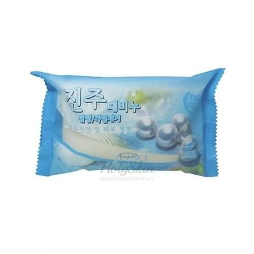 Купить Мыло с жемчугом Juno, Sangtumeori Peeling Soap Pearl, Южная Корея