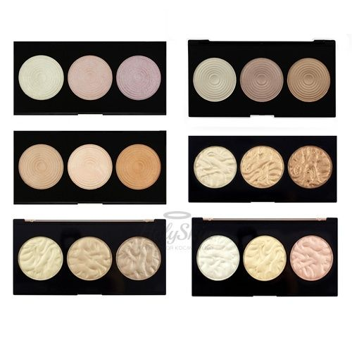 Палетка подчеркивающих хайлайтеров MakeUp Revolution — Highlighter Palette