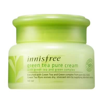 крем для лица Innisfree Green Tea Pure Cream