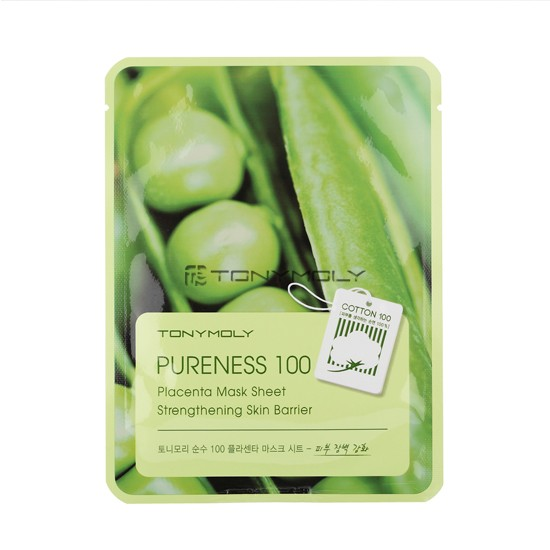 Тканевая маска с плацентой Tony Moly Pureness 100 Placenta Mask Sheet тканевая маска tony moly pureness 100 shea butter mask sheet объем 21 мл