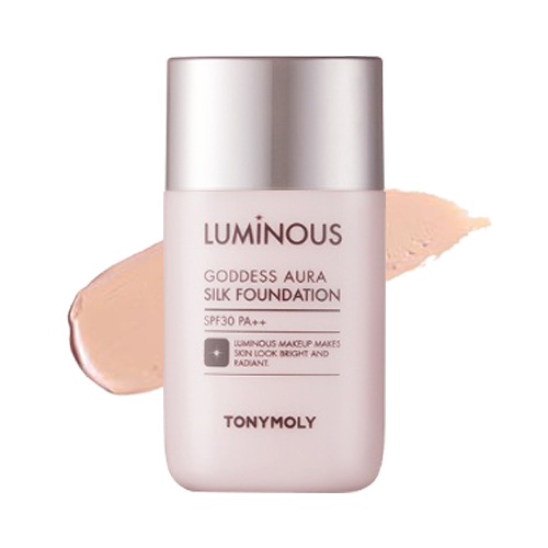 Шелковая тональная основа Tony Moly Luminous Goddess Aura Silk Foundation кисть tony moly professional all about brush 1 шт