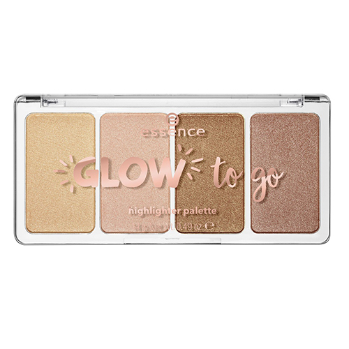 Палетка хайлайтеров Essence Glow To Go Highlighter Palette telling glow