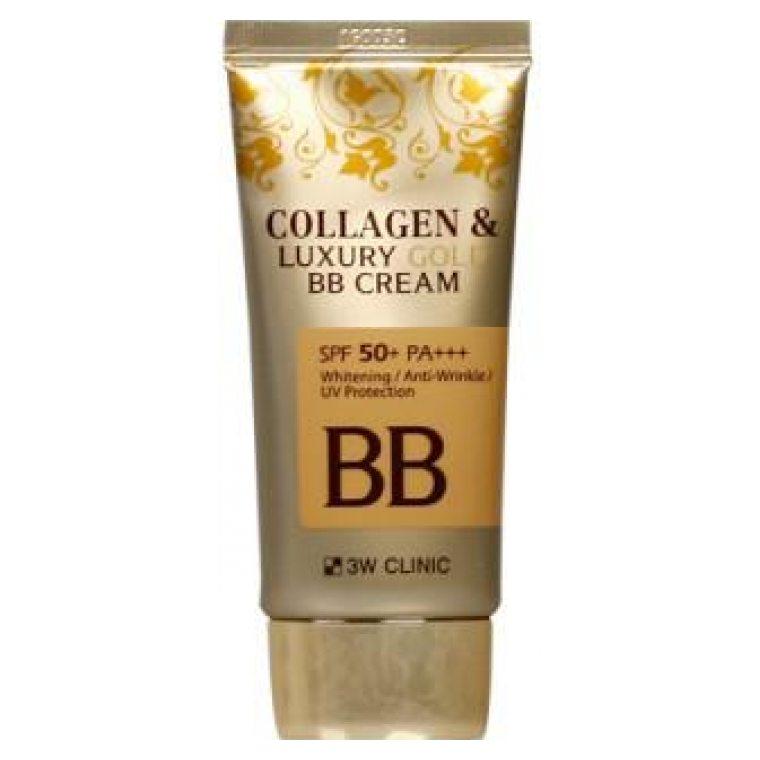 Антивозрастной ВВ крем с коллагеном и золотом 3W Clinic Collagen and Luxury Gold BB Cream крем juno sangtumeori stem cell clinic nourishing cream collagen объем 100 мл