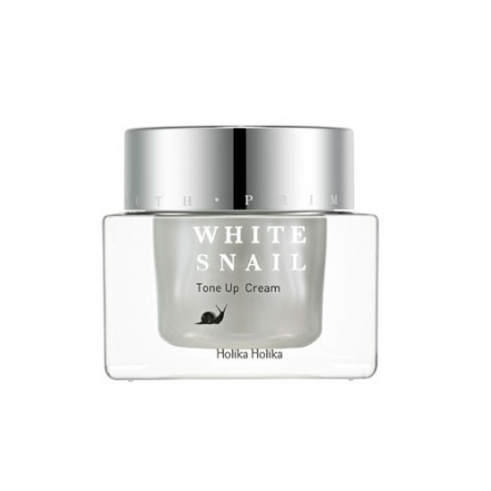 Антивозрастной осветляющий крем с муцином улитки Holika Holika Prime Youth White Snail Tone Up Cream mizon black snail all in one cream 75ml repair cream deep moisturizing anti wrinkle remover acne snail face cream korea cosmetic