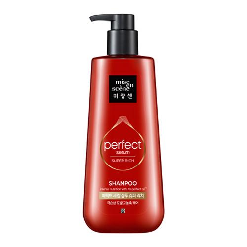 Шампунь для поврежденных волос с обогащенным составом Mise En Scene Perfect Serum Shampoo Super Rich 680ml