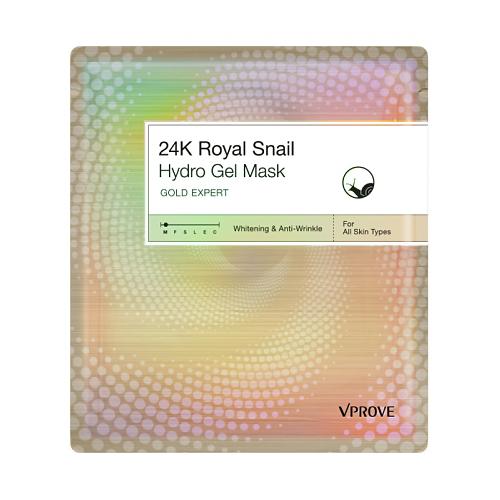 Гидрогелевая маска для лица с экстрактом золота и улитки Vprove Vprove Gold Expert 24k Royal Snail Mask