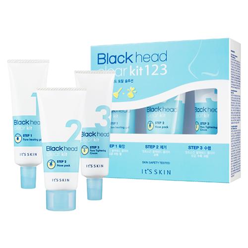 Набор от It's Skin Blackhead Clear Kit 123. Комплексный уход за кожей лица It's Skin Blackhead Clear Kit 123
