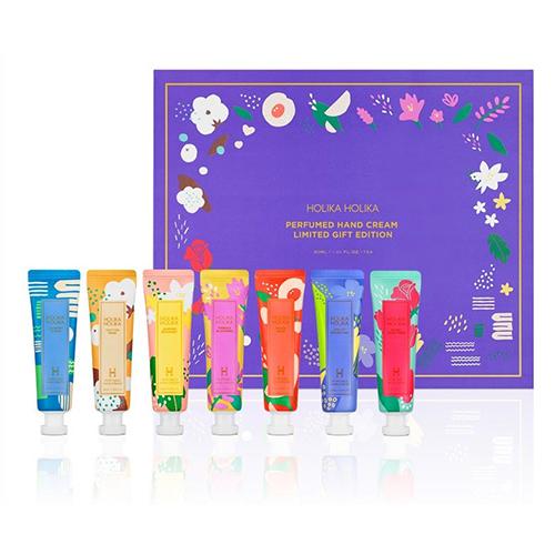 Подарочный набор из 7 кремов для рук Holika Holika Perfumed Hand Cream Limited Gift Edition holika holika крем осветляющий для лица прайм йос вайт снэил prime youth white snail tone up cream 50 мл