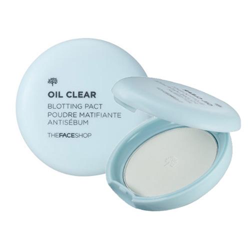 Компактная пудра для контроля жирного блеска на лице The Face Shop Oil Clear Blotting Pact компактная пудра yadah yadah air powder pact