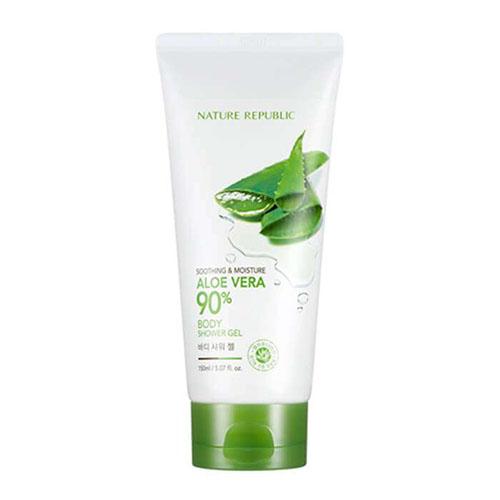 Увлажняющий гель для душа с алоэ Nature Republic Soothing and Moisture Aloe Vera 90% Body Shower Gel nature republic honey