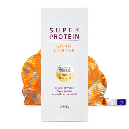 Тепловая протеиновая маска для волос в форме шапочки APieu Super Protein Steam Hair Cap