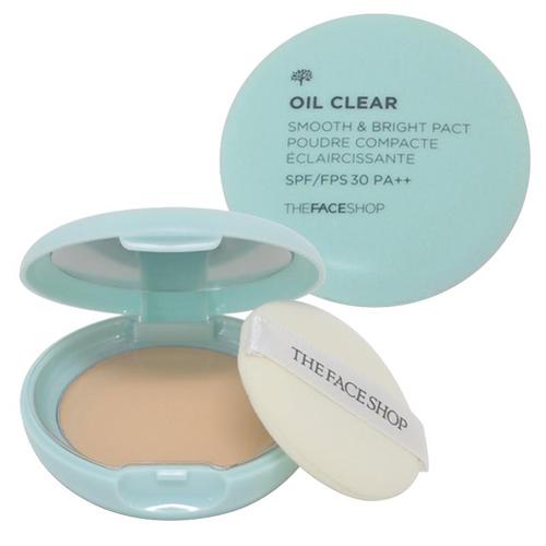 Компактная пудра для гладкости и сияния кожи The Face Shop Oil Clear Smooth and Bright Pact компактная пудра yadah yadah air powder pact